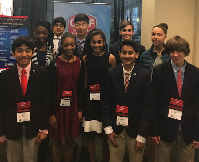 Middle School Students Excel at State Science Fair