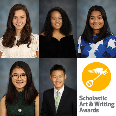 Five Students Recognized with National Art and Writing Awards