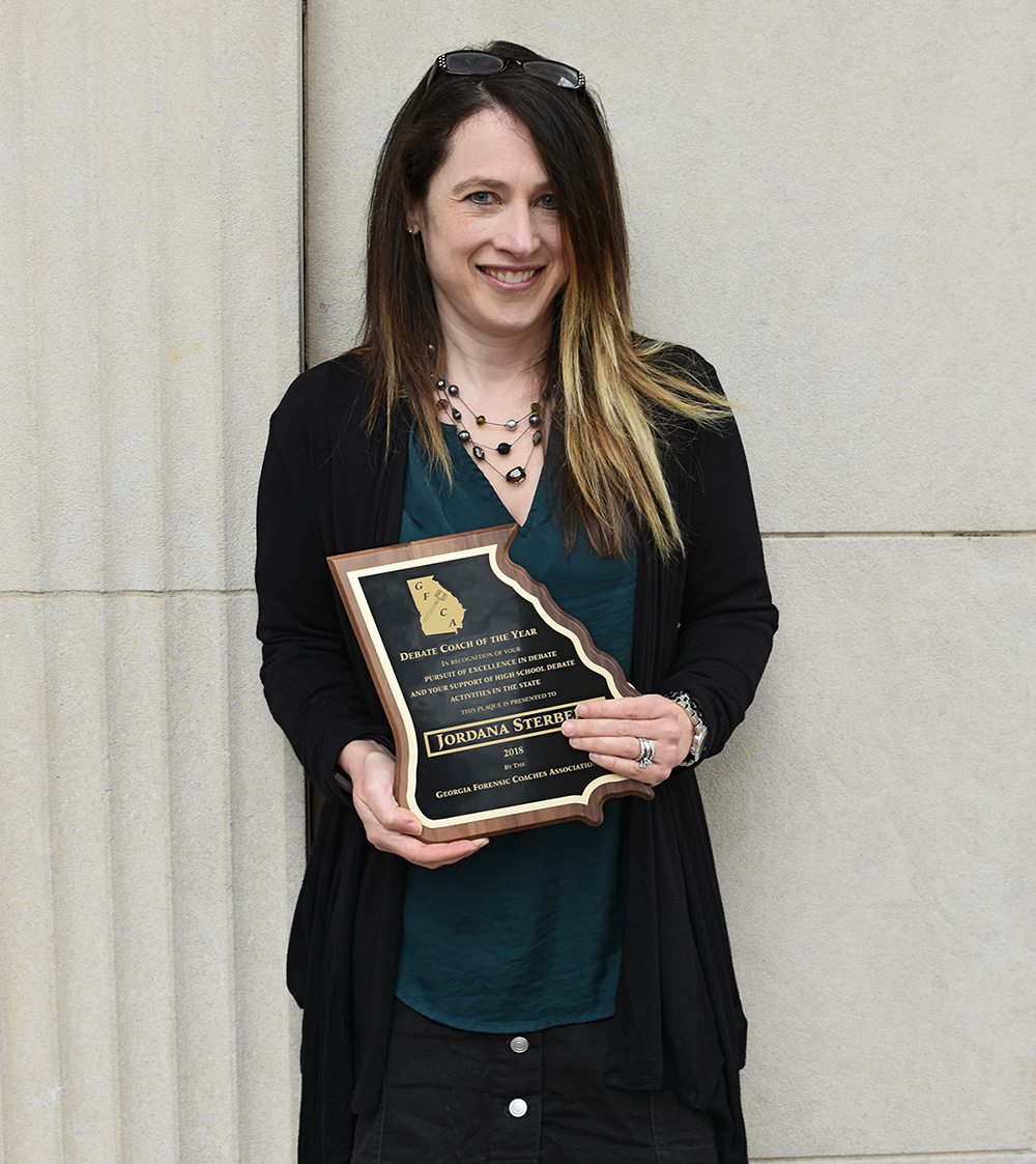 Debate Coach Receives Statewide Recognition